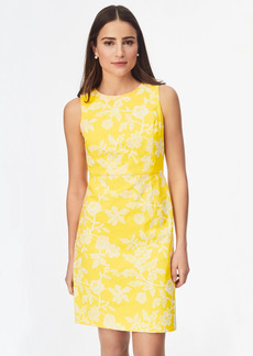 Brooks Brothers Floral-Embroidered Stretch-Cotton Twill Dress