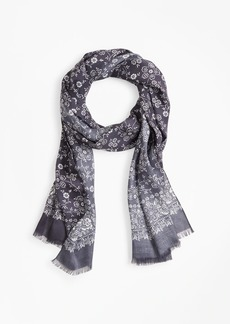 Brooks Brothers Floral Motif Scarf