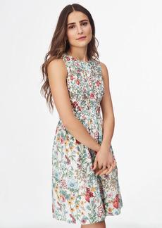 Brooks Brothers Floral-Print Cotton Poplin Shirt Dress
