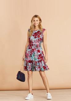 Brooks Brothers Floral-Print Flounced Dress