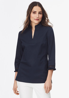 Brooks Brothers Fringe-Trimmed Cotton Sateen Tunic