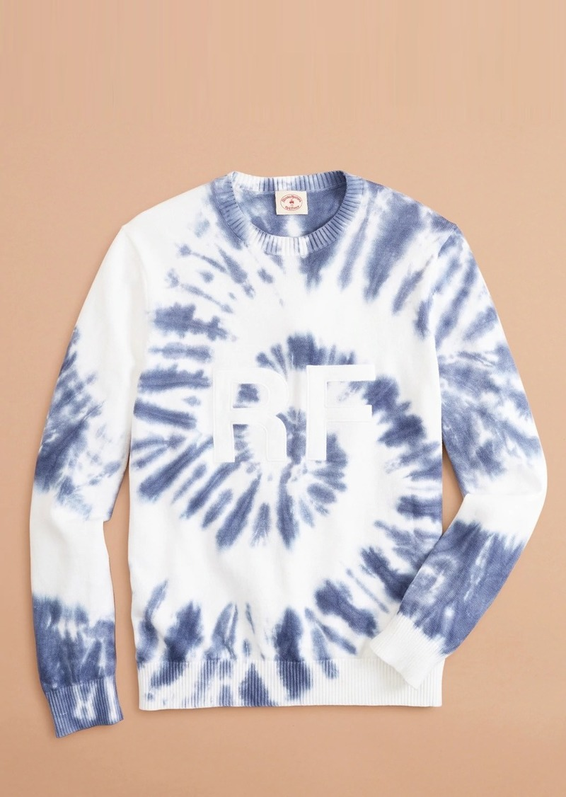 Brooks Brothers Graphic Tie-Dyed Cotton Sweater