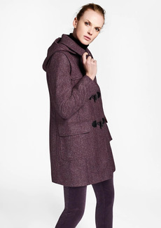 Brooks Brothers Herringbone Wool Tweed Duffle Coat