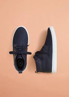 Brooks Brothers High-Top Denim Sneakers