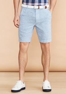 Brooks Brothers Horizontal Stripe Cotton-Linen Shorts