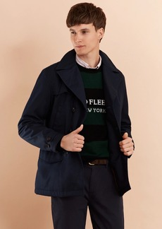 Brooks Brothers Lightweight Cotton Twill Peacoat