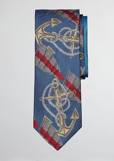 Brooks Brothers Limited Edition Archival Collection Anchor Motif Silk Tie