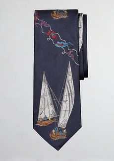 Brooks Brothers Limited Edition Archival Collection Sail Boat and Sail Flag Silk Tie