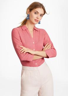 Brooks Brothers Linen Three-Quarter Sleeve Shirt
