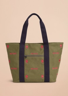 Brooks Brothers Logo-Embroidered Canvas Tote Bag