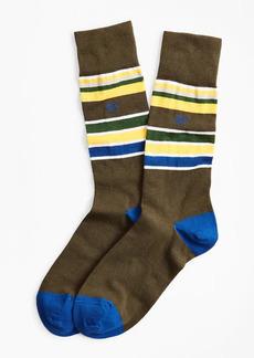 Brooks Brothers Multi-Stripe Crew Socks