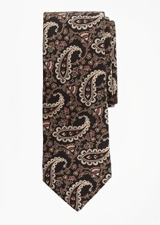 Brooks Brothers Paisley Chevron Print Tie
