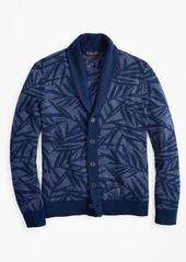 Brooks Brothers Palm Print Shawl Collar Cardigan