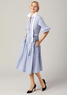 Brooks Brothers Petite Striped Bell-Sleeve Shirt Dress