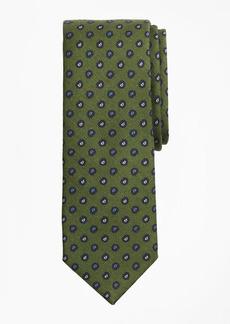 Brooks Brothers Pine Print Wool Tie