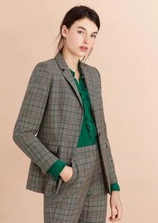 Brooks Brothers Plaid Wool Tweed Jacket