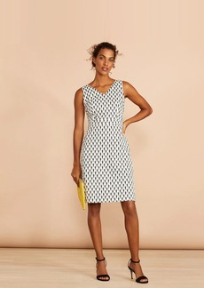 Brooks Brothers Seahorse-Print Stretch Cotton Sateen Sheath Dress