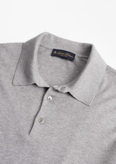 Brooks Brothers Silk And Cotton Polo Sweater
