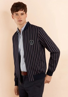 Brooks Brothers Striped Bomber Jacket