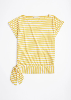 Brooks Brothers Striped Jersey Dolman-Sleeve Top