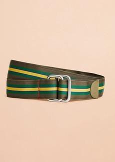 Brooks Brothers Striped Ribbon Belt
