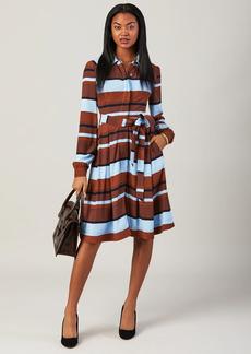 Brooks Brothers Striped Twill Shirt Dress