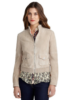 Brooks Brothers Suede Bomber Jacket