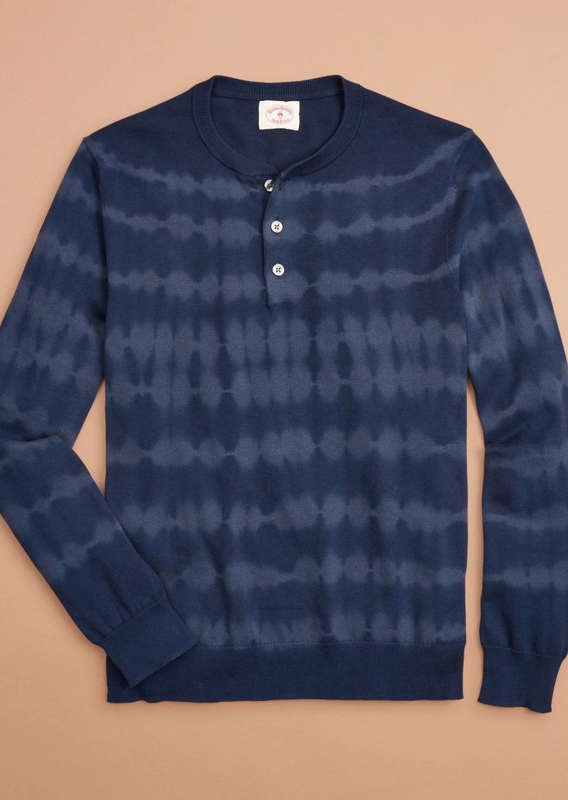Brooks Brothers Tie-Dye Stripe Henley Sweater