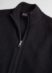 Brooks Brothers Washable Merino Wool Full-Zip Sweater