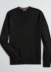 Brooks Brothers Washable Merino Wool V-Neck Sweater