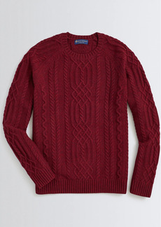 Brooks Brothers Wool-Blend Fisherman Sweater