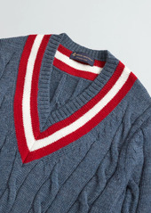 Brooks Brothers Wool Tennis Sweater