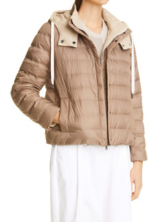 Brunello Cucinelli Down Puffer Jacket with Removable Hood