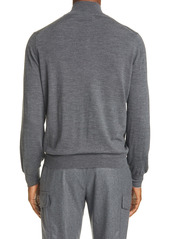 Brunello Cucinelli Fine Gauge Wool & Cashmere Zip Cardigan