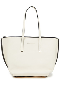 Brunello Cucinelli Woman Bead-embellished Leather Tote Ivory
