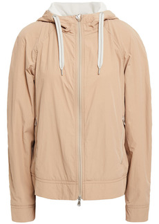 Brunello Cucinelli Woman Bead-embellished Shell Hooded Jacket Neutral