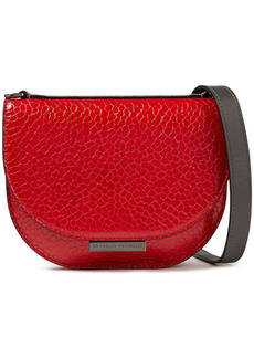 Brunello Cucinelli Woman Croc-effect Leather Shoulder Bag Red