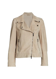 Brunello Cucinelli Leather Moto Jacket