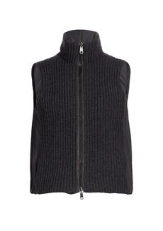 Brunello Cucinelli Ribbed Cashmere & Nylon Reversible Vest