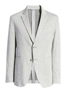 Bugatchi Classic Fit Stretch Linen & Cotton Blazer