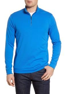 Bugatchi Cotton Half-Zip Pullover