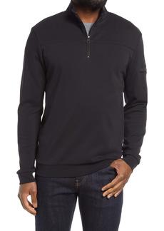 Bugatchi Cotton Quarter Zip Pullover
