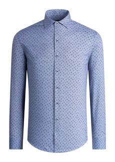 Bugatchi OoohCotton® Tech Floral Print Button-Up Shirt