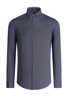 Bugatchi OoohCotton® Tech Print Button-Up Shirt