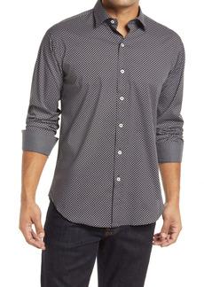 Bugatchi Shaped Fit Floral Button-Up Shirt