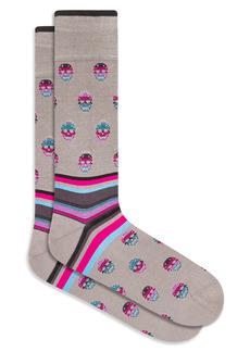 Bugatchi Skull Pattern Socks