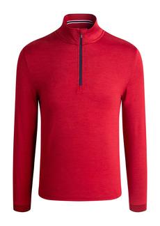 Bugatchi Stretch Quarter Zip Pullover
