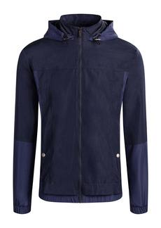 Bugatchi Water Resistant Hooded Zip-Up Jacket