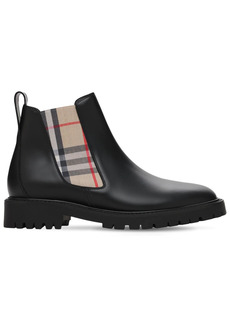 Burberry 30mm Allostock Leather & Check Boots
