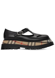 Burberry 40mm Aldwych Leather Wedges